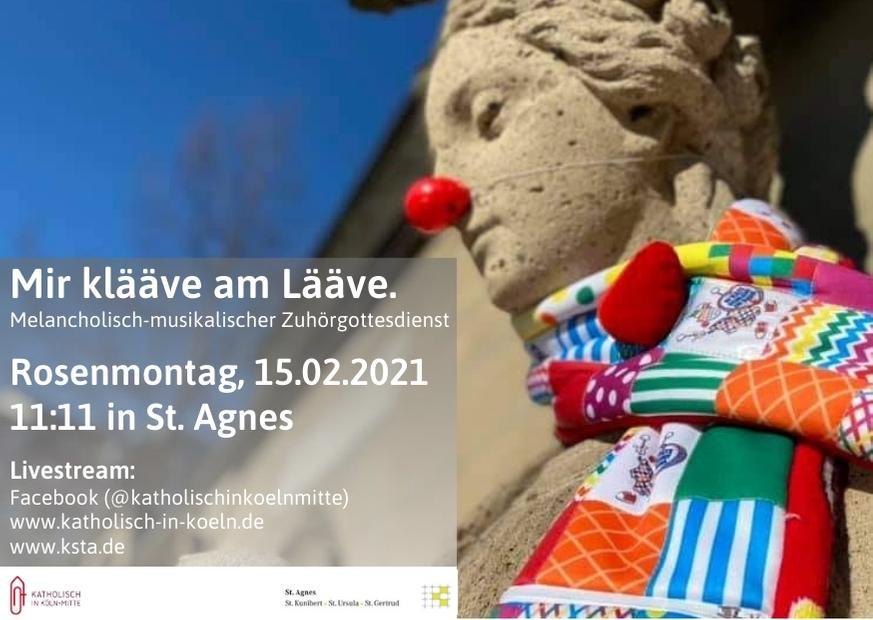 Mir Klaave Am Laave Musikalisch Melancholischer Zuhorgottesdienst Am Rosenmontag In St Agnes
